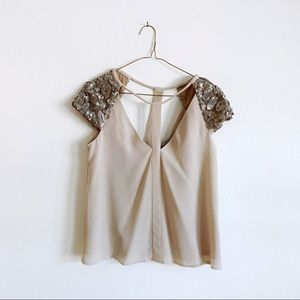 Sequin BCBGMaxazria Top
